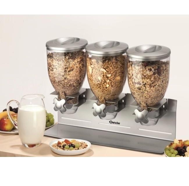 Cerealienspender 3 x 3,5 Liter, B/T/H: 540×170×395 mm