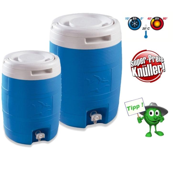Thermo-Getränkebehälter, komplett aus Kunststoff, blau, 8 oder 13 Liter
