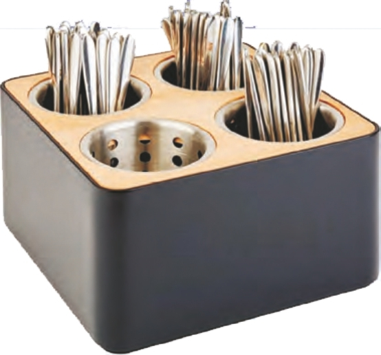 Besteckbehälter inkl. 4 Edelstahl-Köcher