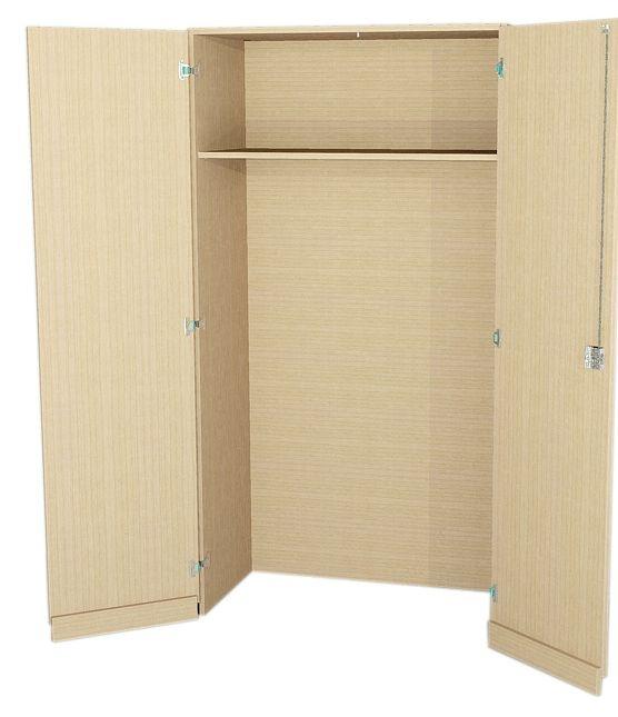 Garderobenschrank mit Schleppsockel, 190 cm hoch (Maße wählen)