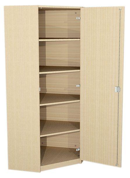 Eckschrank mit Tür, 190 cm hoch (Maße wählen)