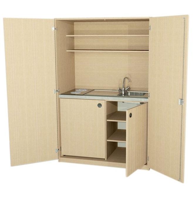 Schrankküche Typ 3, B/H/T: 124 x 190 x 65 cm