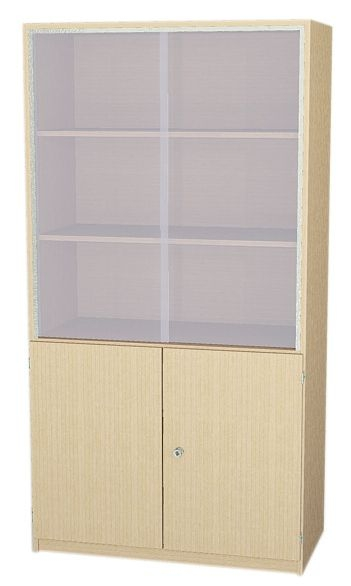 Schrank mit Glasschiebetüren, 190 cm hoch (Maße wählen)