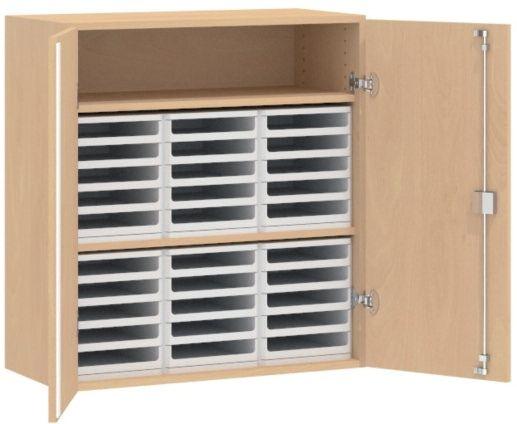 Formular-Aufsatzschtrank mit 2 Türen, B/H/T: 87 x 92 x 40 cm