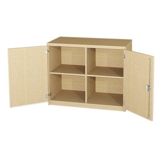 Anrichte mit 2 Türen und Mittelwand, 82,5 cm hoch (Maße wählen)
