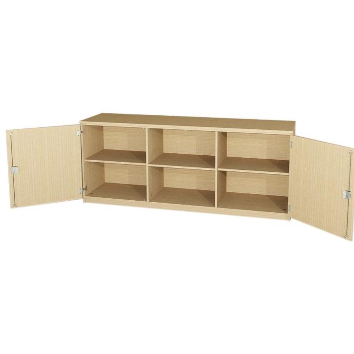 Anrichte mit 2 Türen und offener Mitte, 82,5 cm hoch (Maße wählen)