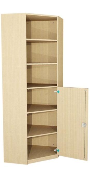 Eck-Schrank mit halbhoher Tür, 230 cm hoch (Maße wählen)