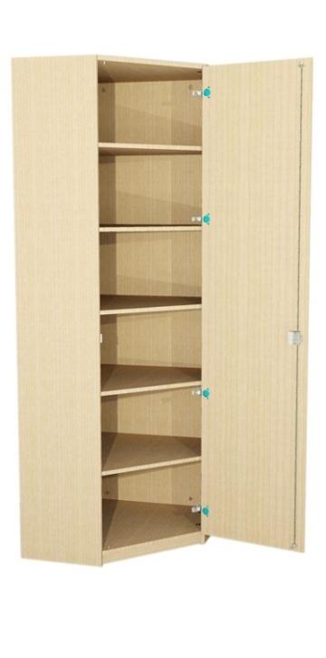 Eck-Schrank mit Tür, 230 cm hoch (Maße wählen)