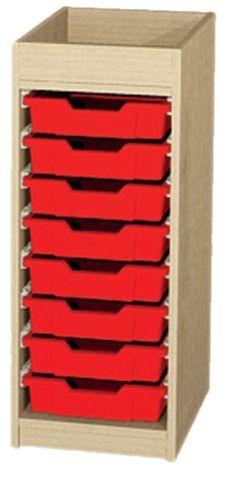 Unterschrank mit Aufkantung flach, B/H/T: 36,1 x 88 x 50 cm