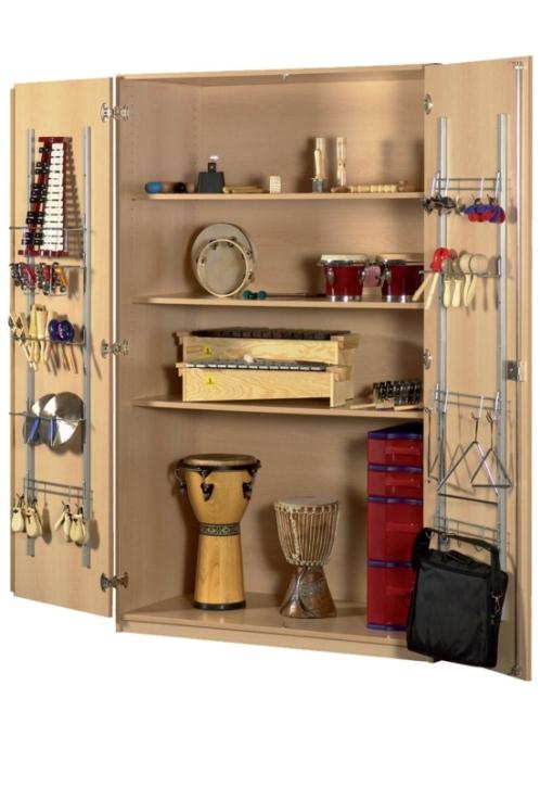 Musikinstrumentenschrank mit Kuststoffschüben, B/H/T: 100×190×60 cm