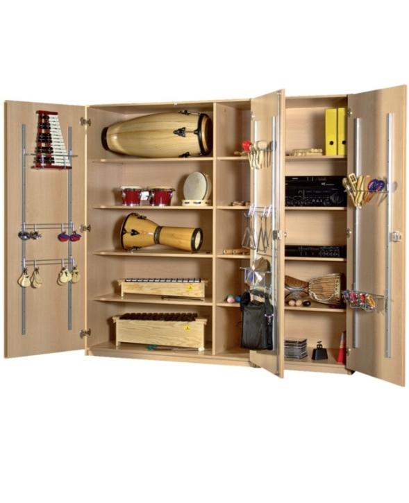 Breiter Musikinstrumentenschrank, B/H/T: 180×190×60 cm