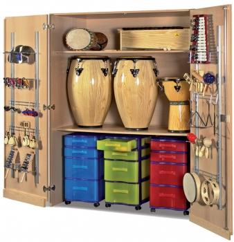 Instrumentenschrank mit Schleppsockel, B/H/T: 120×190×60 cm
