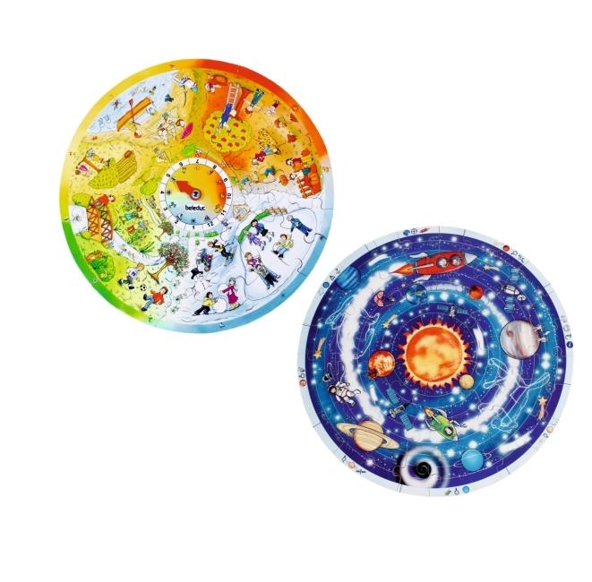 """2er Puzzle- Sparset """"Planeten"""" und """"4 Jahreszeiten"""""""