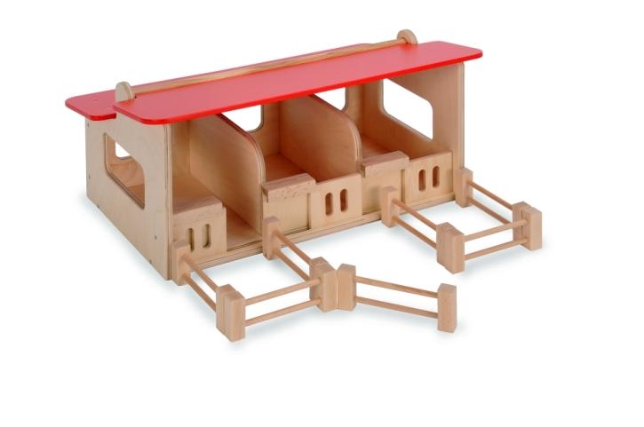 Pferdestall aus Holz