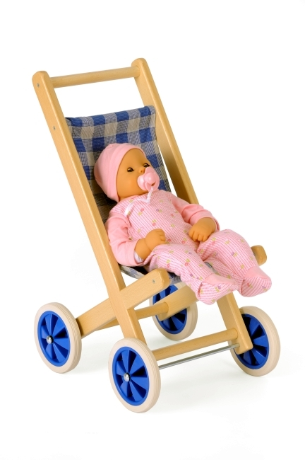 Puppen-Buggy aus Holz