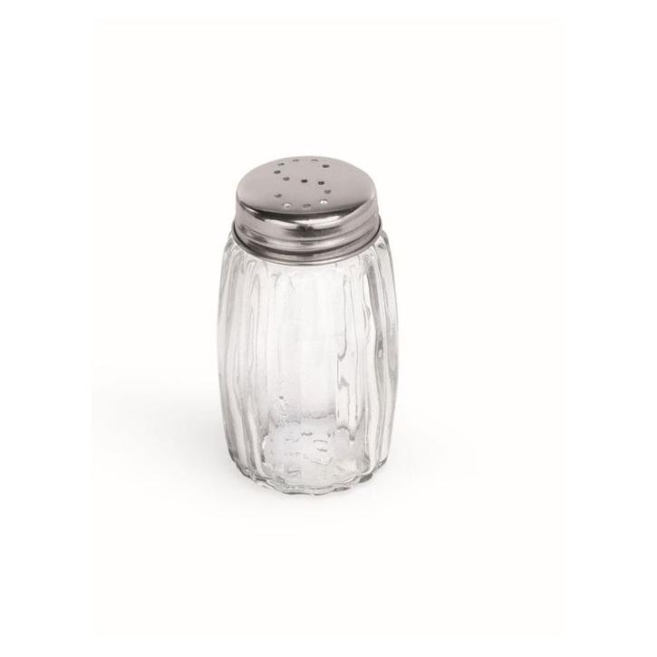 Salzstreuer, Höhe 8,5 cm, Kappe aus Edelstahl 18/10