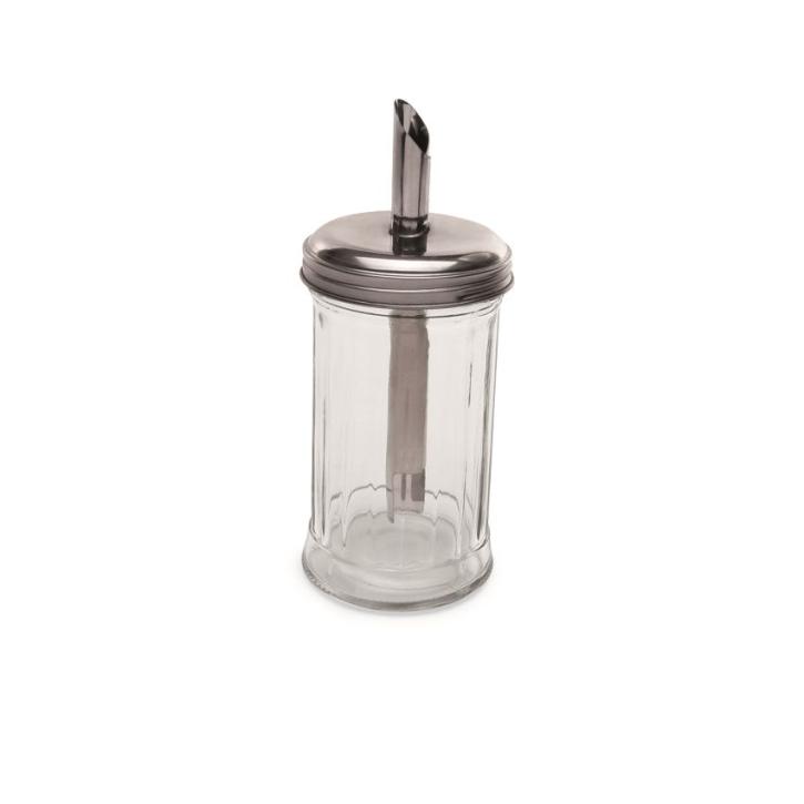 Zuckerdosierer aus Glas, 0,30 Liter, Zylinderform, Ø 7,5 × Höhe 17 cm