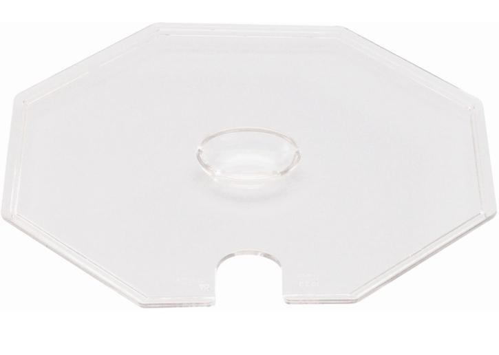 Deckel transparent, passend zu (8) Schüssel 8-eckig groß, 3,00 Liter