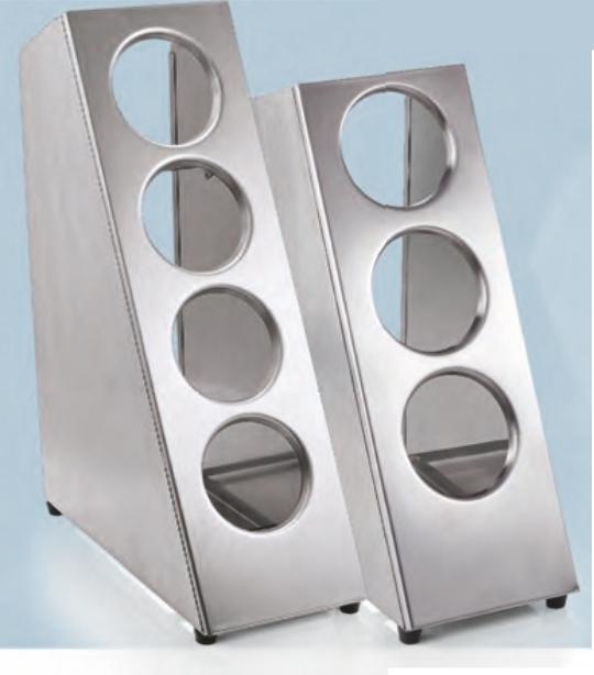 Ständer für Besteckköcher aus Edelstahl (Größe wählen)
