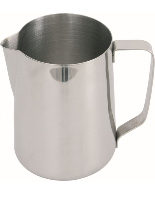 (4) Milchgießer 0,75 Liter, Ø 105 x H 125 mm, Edelstahl