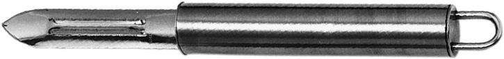 (4) Sparschäler 19 cm, Edelstahl, Hohlgriff mit Aufhängeöse