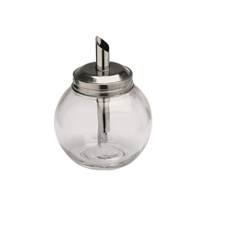 Zuckerdosierer aus Glas, 0,26 Liter, Kugelform, Ø 8,5 × Höhe 11,5 cm