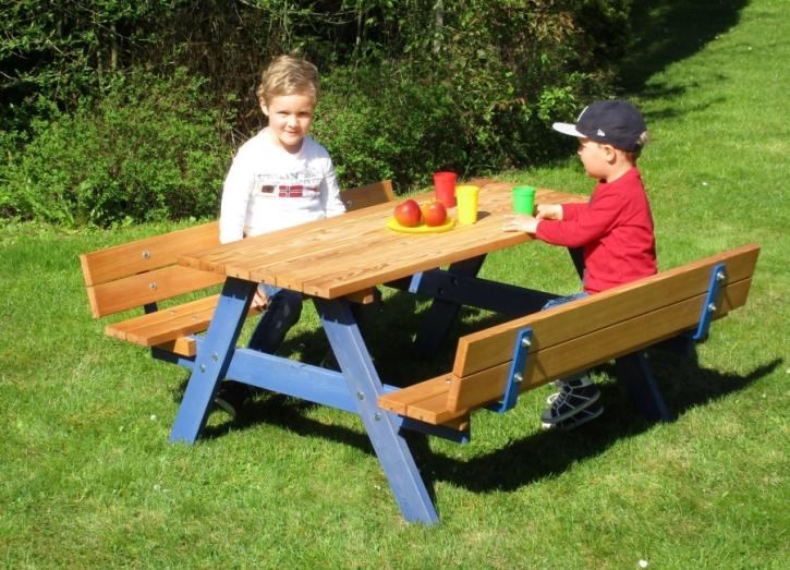 Picknicksitzgruppe mit Rückenlehne für die Kleinen