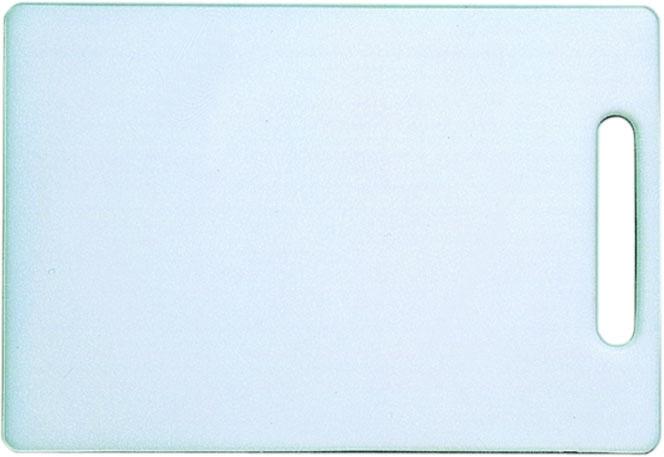 Schneidebrett 24 x 15 x H 1 cm, mit Griffloch, ohne Gummifüße, weißes Polyethylen