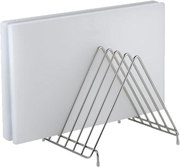 Bretthalter für 6 Bretter, 30×24×27 cm, Edelstahl