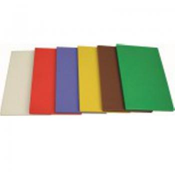 Schneidebrett HACCP, 50 x 30 x 2 cm, mit 6 Gummifüßen (Farbe wählen)