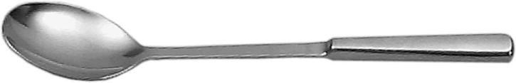 (8) Servierlöffel Ø 8 x 6 cm, Stiel 23 cm, gesamt 31 cm, Edelstahl 18/10