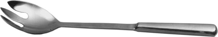 (11) Salatgabel Ø 8 x 6 cm, Stiel 23, gesamt 31 cm, Edelstahl 18/10
