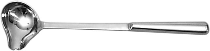 (3) Schöpfkelle quer, Ø 7,5 x 5 cm, Stiel 26 cm, gesamt 30 cm, Edelstahl 18/10
