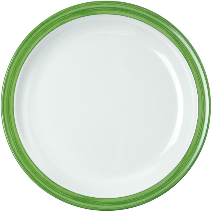 Melamin Bistro - (9) Mittagsteller / Teller flach GRÜN Ø 235 mm