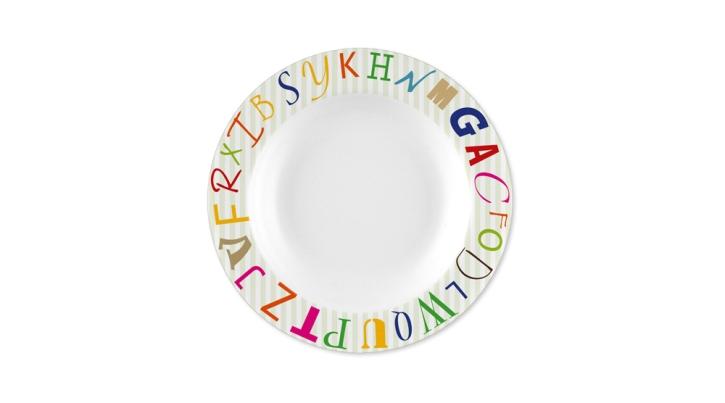Melamin ABC - Suppenteller / Teller tief Ø 22,5 cm