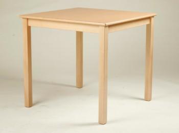 Quadrat-Tisch 80 x 80 cm, Tischplatte aus HPL Buche natur (Tischhöhe 42 - 76 cm)