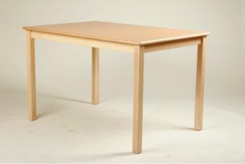 Rechteck-Tisch 80 x 60 cm, Tischplatte aus HPL Buche natur (Tischhöhe 42 - 76 cm)