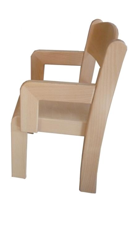 Stuhl ERIC mit Armlehnen Typ 2 (Sitzhöhe 21-35 cm)