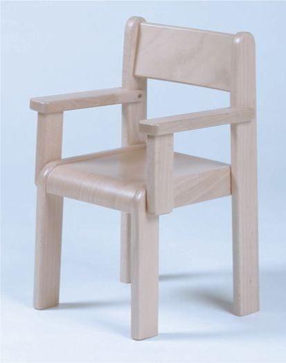 Stuhl SIMEON mit Armlehnen Typ 3, Buche massiv (Sitzhöhe 21-26 cm)