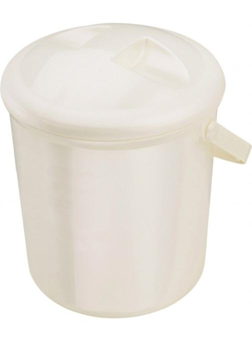 Windeleimer mit Runddeckel, 10 Liter, perlweiß