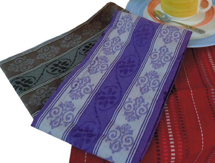 Abverkauf: 8 Stück Geschirrtücher als SET 40 x 70 cm, gestreift, Farbe violett