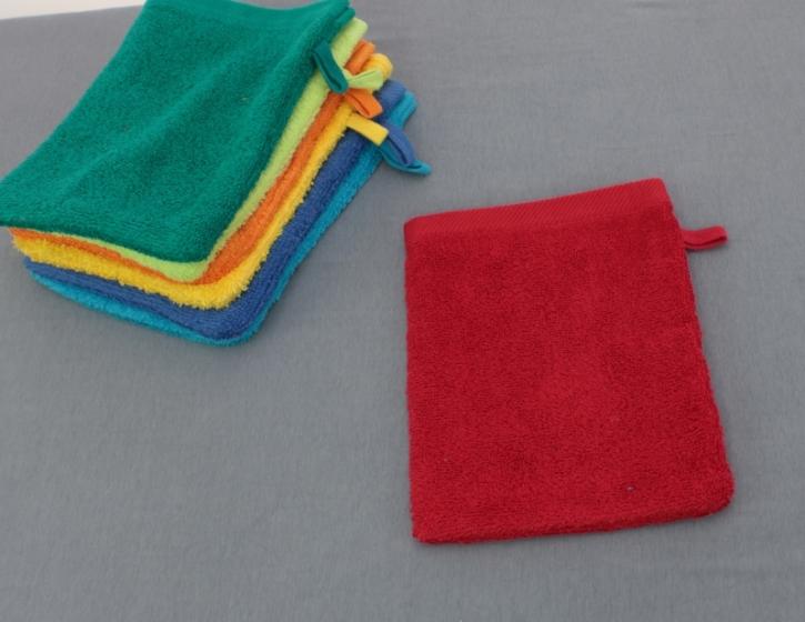 Waschhandschuh ca. 16×21 cm, ROT