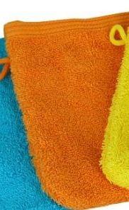 Waschhandschuhe 16x21 cm, schwere Qualität, ORANGE