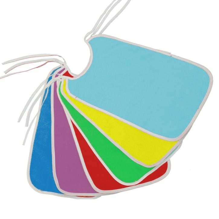Frottee-Lätzchen EXTRA-LANG, Bänderverschluss, 30 x 50 cm (Farbe wählen)