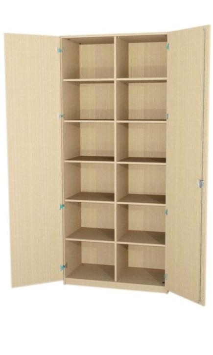 Breiter Schrank mit Mittelwand, 230 cm hoch (Maße wählen)