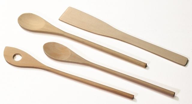 Holzlöffel-Set 4-teilig im Polybeutel