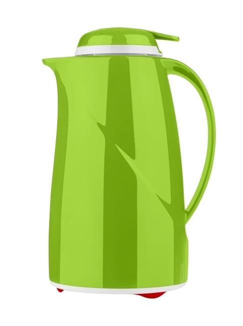 Isolierkanne mit Glaseinsatz und Drucktastenverschluss 1 Liter (Farbe wählen)