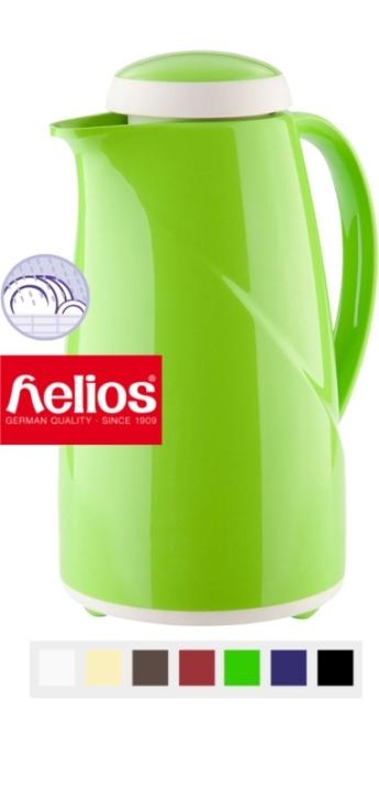 """Isolierkanne mit Glaseinsatz """"Wave"""" von Helios, 1,00 oder 1,50 Liter (Größe + Farbe wählen)"""