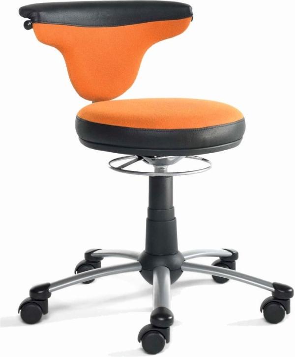 """Drehstuhl """"Torro-Sit"""", Hartboden-Rollen, 38-50 cm, 299 Stoff orange"""