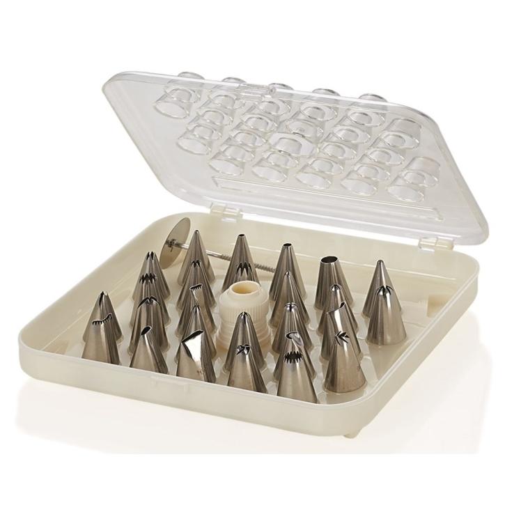 Spritztüllen-Set in Sortimentsbox, Premium Qualität